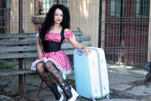 girl suitcase bank