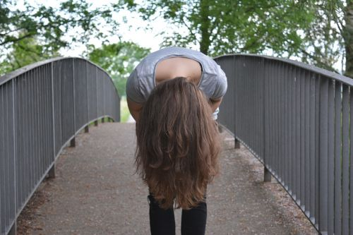 girl upside down hair