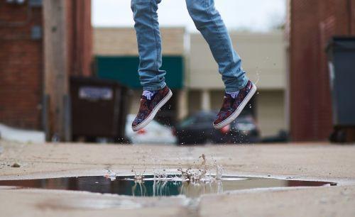 girl jump jumping for joy
