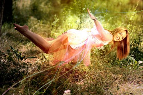 girl levitation magic