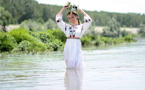 girl peasant woman tradition