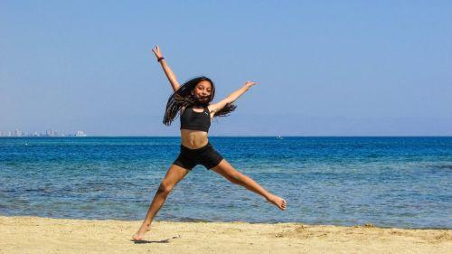 girl sea beach