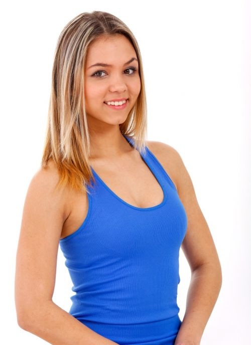 girl vest blue