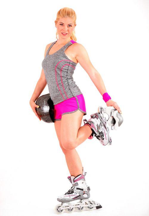 girl roller skates inline