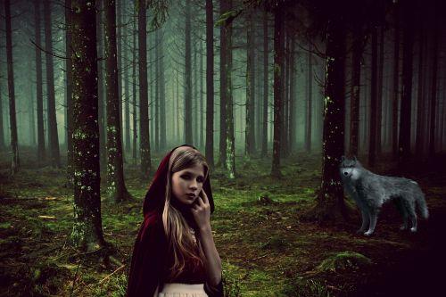 girl fairy tales rotkäppchen