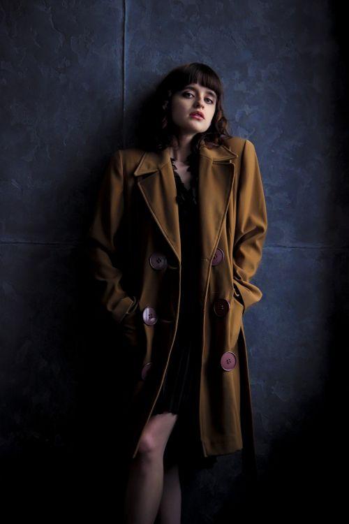 girl coat old coat