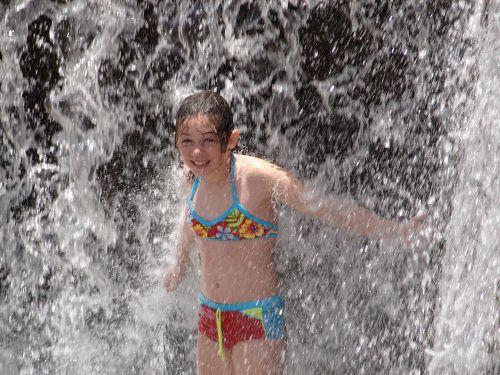 girl splash water