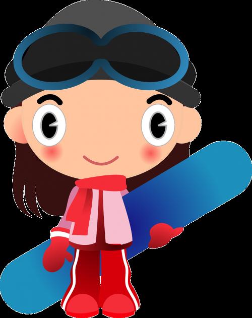 girl snow sports