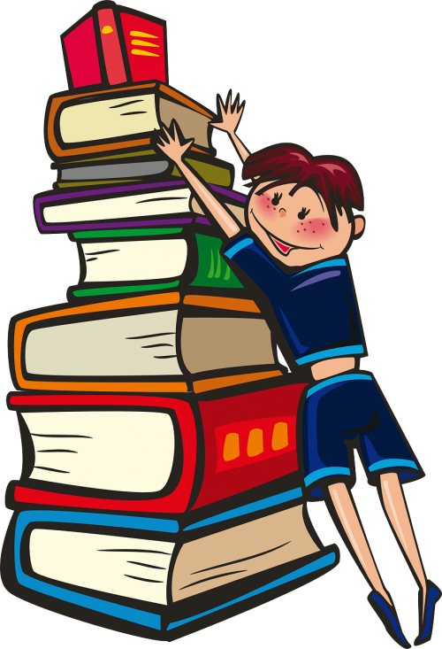 girl books school