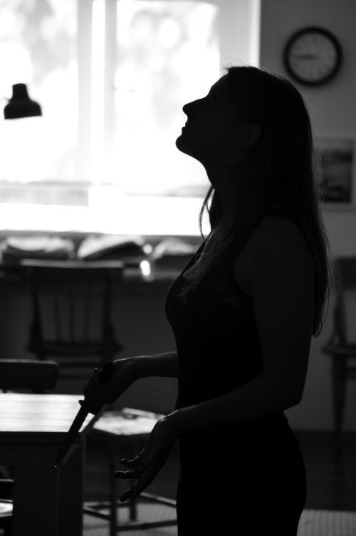 girl silhouette woman