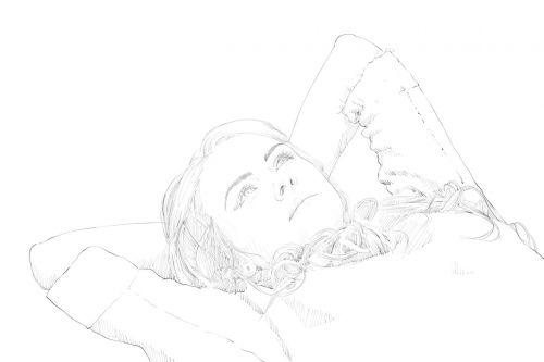 girl beautiful drawing