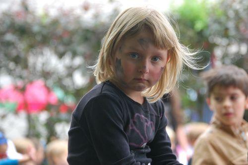 girl blonde face