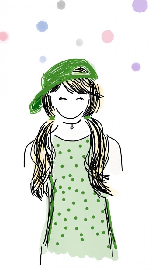 girl green hat st patrick's day