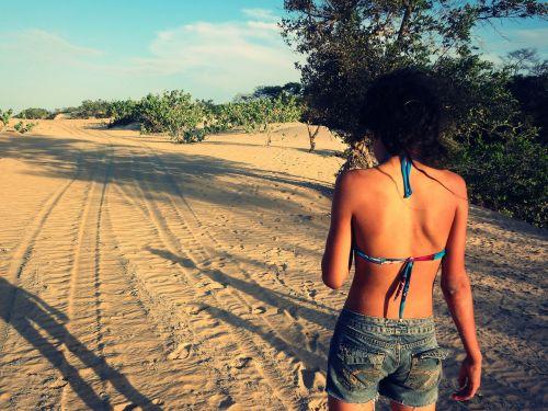 girl natural sand