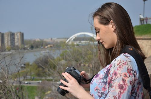 girl nature photographer