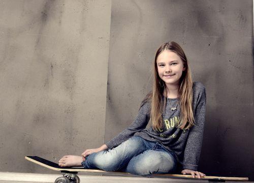 girl skateboard longboard