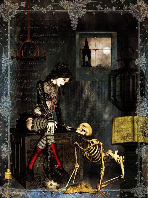 girl dark gothic