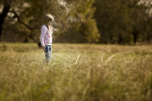 girl sepia outdoors