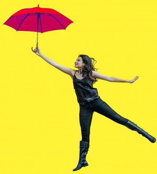 girl umbrellas model