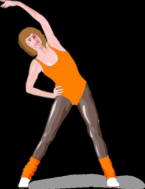 girl lady aerobics