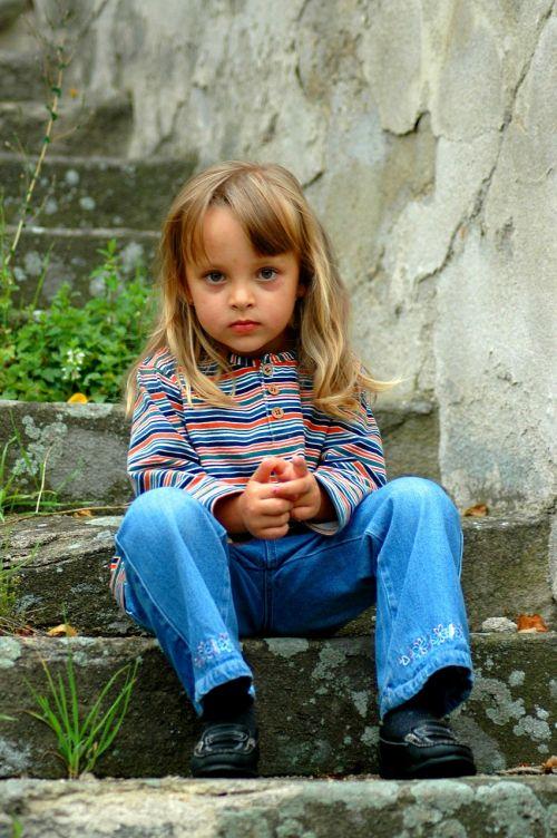 girl child thoughtful