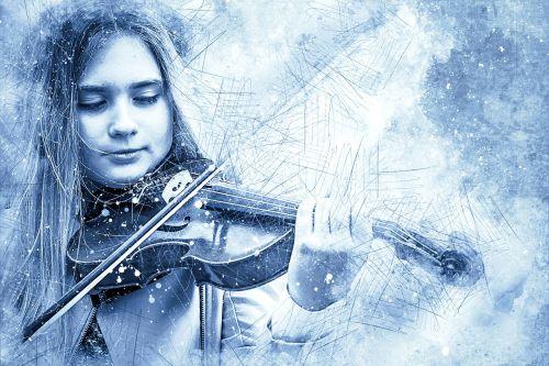 girl violin art