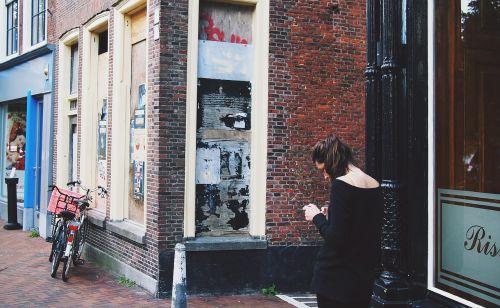 girl woman texting