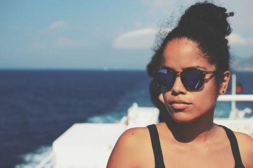 girl models sea