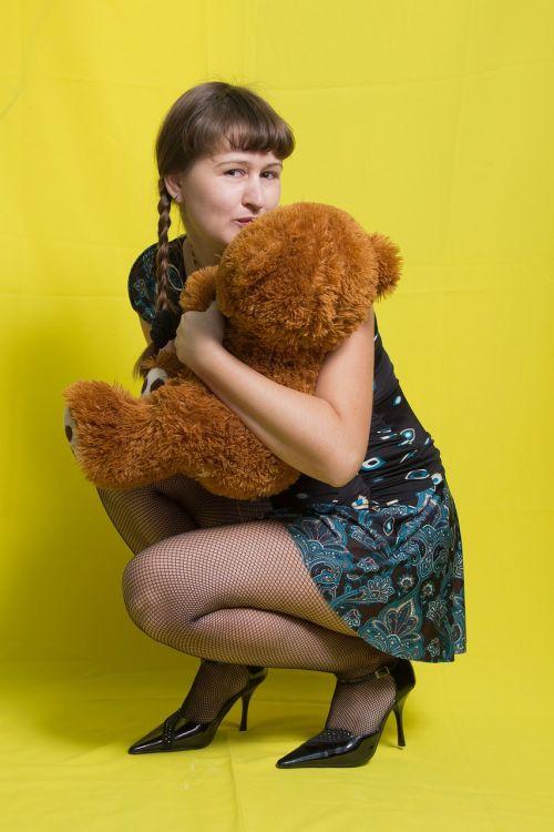 girl plush bear