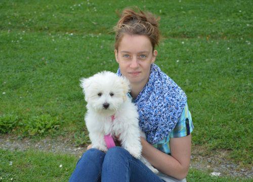 girl dog young woman