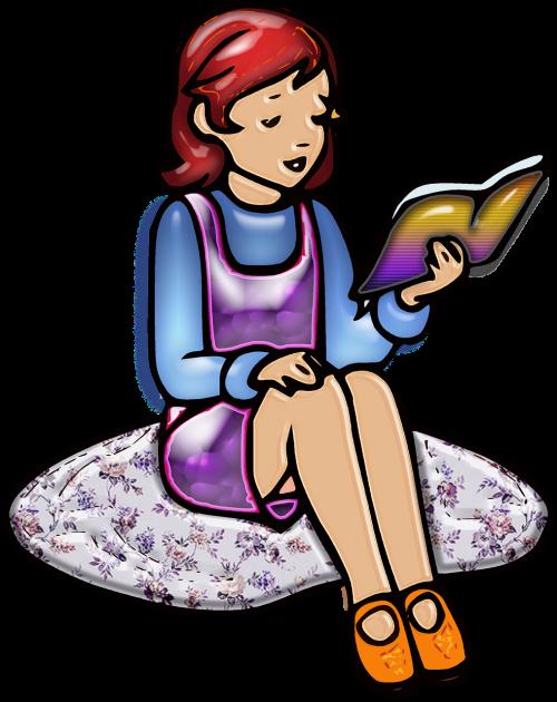 girl child reading