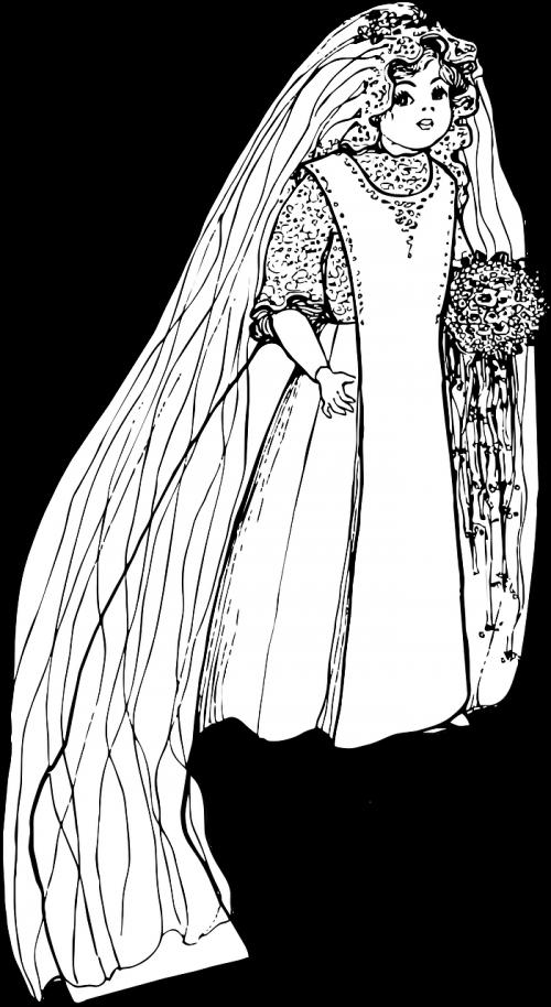 girl wedding gown doll