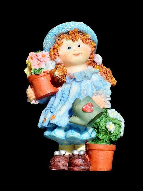 girl doll gardener