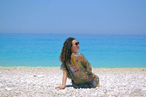 girl seaside greece