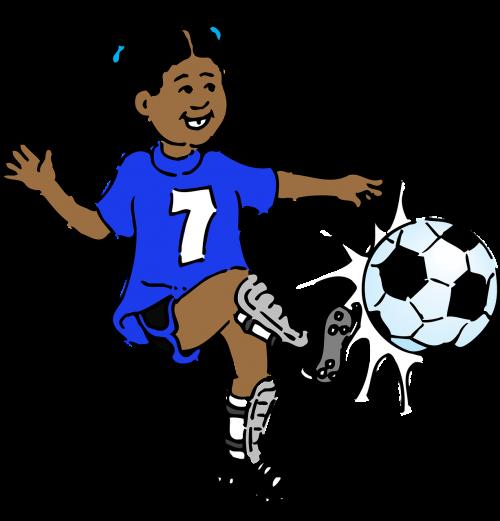 girl soccer play