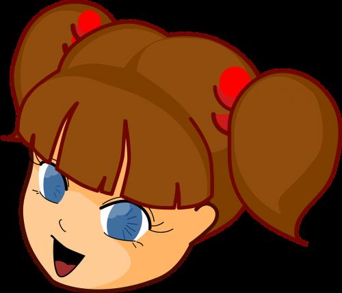 girl head manga