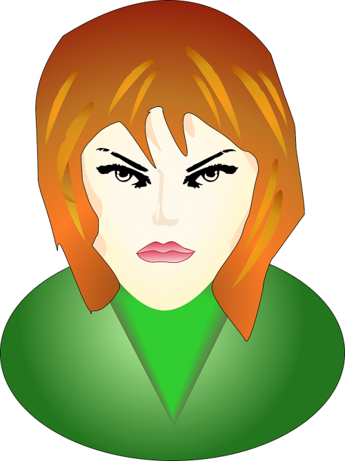 girl angry face