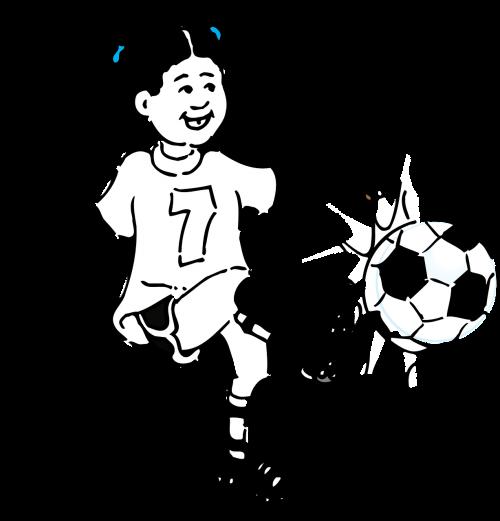 girl football kicking