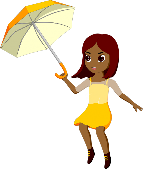 girl wind weather