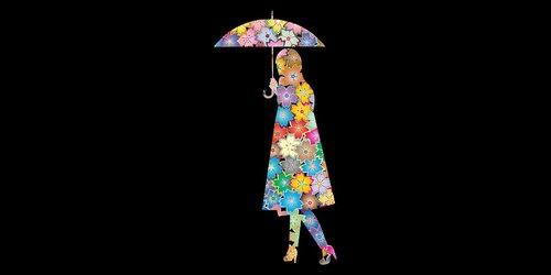 girl  flower  umbrella
