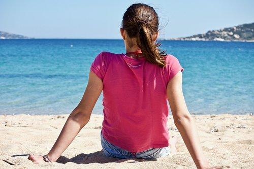girl  beach  sea