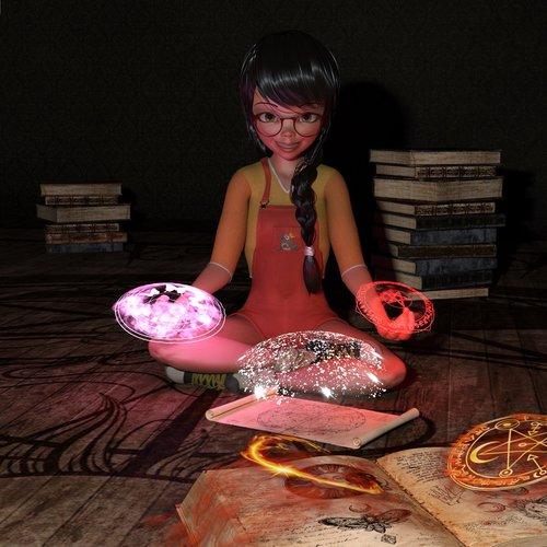 girl  books  magic