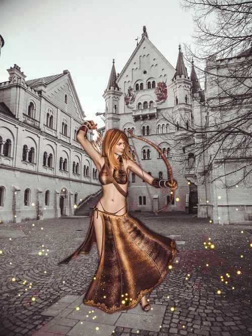 girl  archer  collage