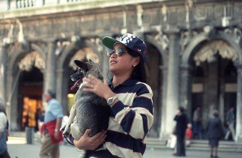 girl  dog  travel