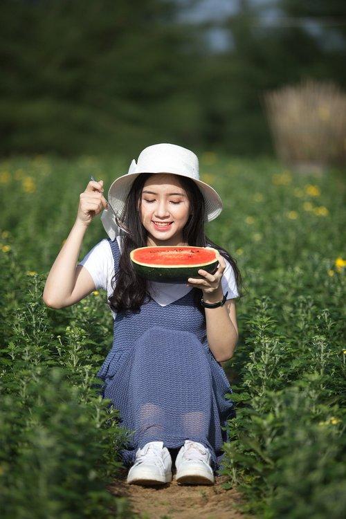 girl  girl and watermelon  women