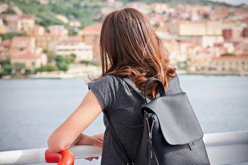 girl  back  landscape