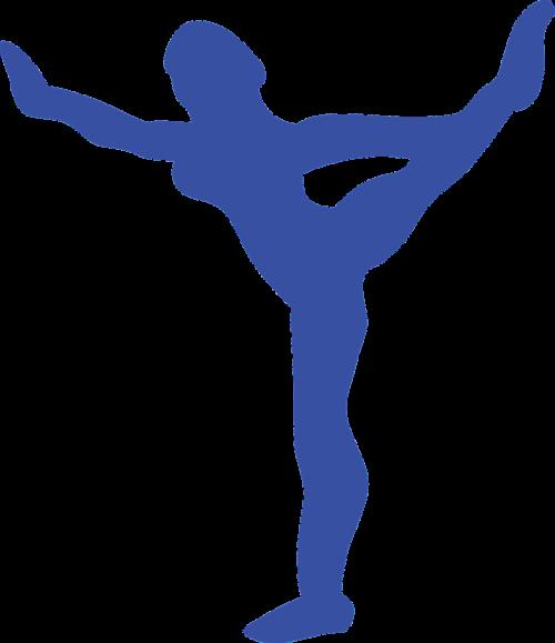 girl blue silhouette
