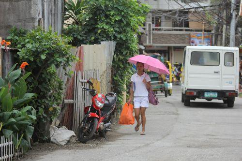 girl woman umbrella
