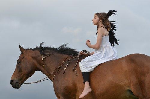 girl  rider  horse