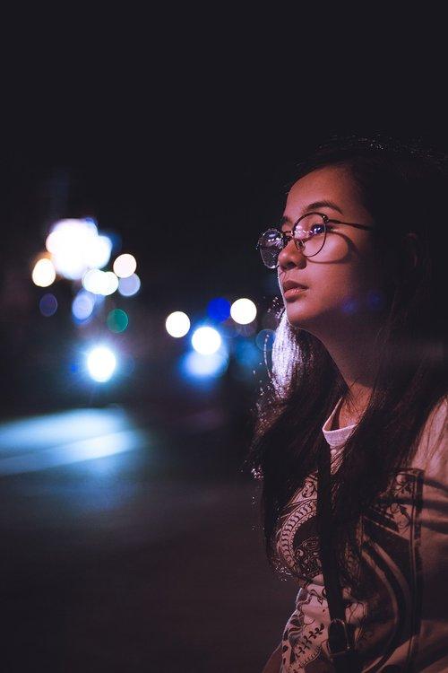 girl  street  glasses